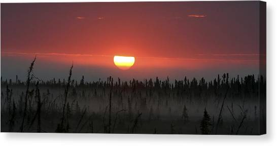 Kenai Peninsula Early Sunrise Canvas Print by Mary Gaines