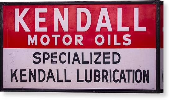 Kendall Motor Oils Sign Canvas Print
