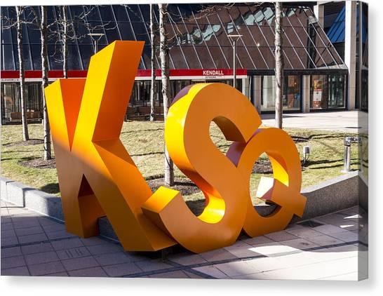 Kendall Square Sign Cambridge Ma Canvas Print
