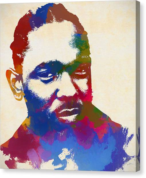 Rihanna Canvas Print - Kendrick Lamar by Dan Sproul