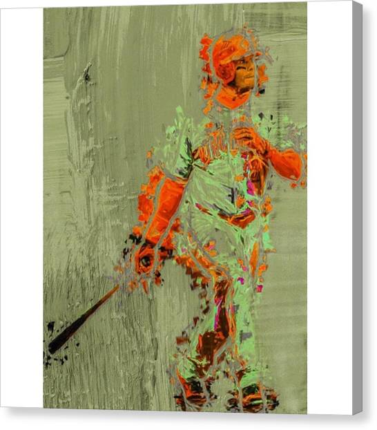 Baseball Canvas Print - #kengriffeyjr #baseball #springtraining by David Haskett II