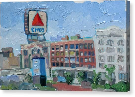 Patriot League Canvas Print - Kenmore Square by Marc Clamage