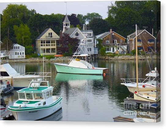 Kennebunkport Harbor Canvas Print