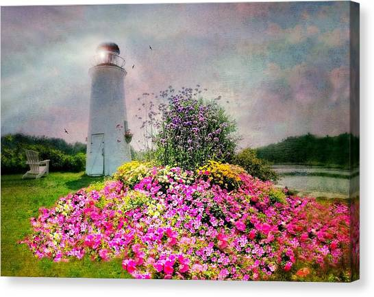 George W. Bush Canvas Print - Kennebunkport Lighthouse by Diana Angstadt