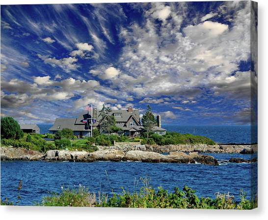 George Bush Canvas Print - Kennebunkport, Maine - Walker's Point by Russ Harris