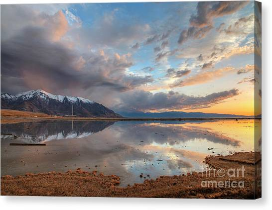 Canvas Print featuring the photograph Kennecott And The Oquirrhs by Spencer Baugh