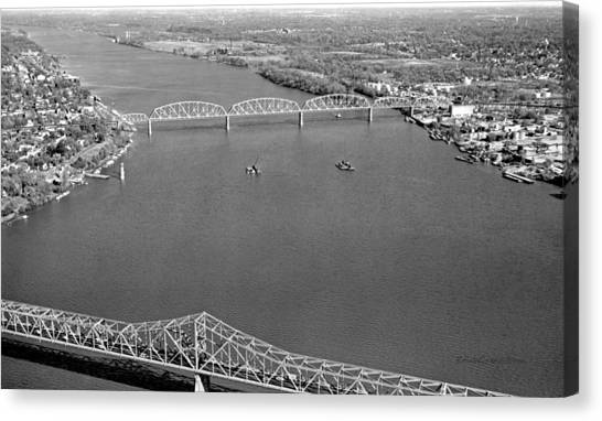 Kennedy Bridge Construction Canvas Print