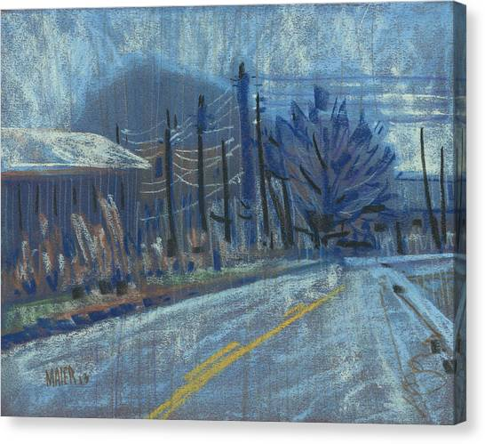 Country Roads Canvas Print - Kennesaw View by Donald Maier
