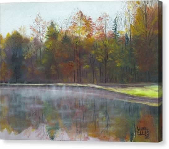 Kennison Pond  Canvas Print by Laurel Ellis