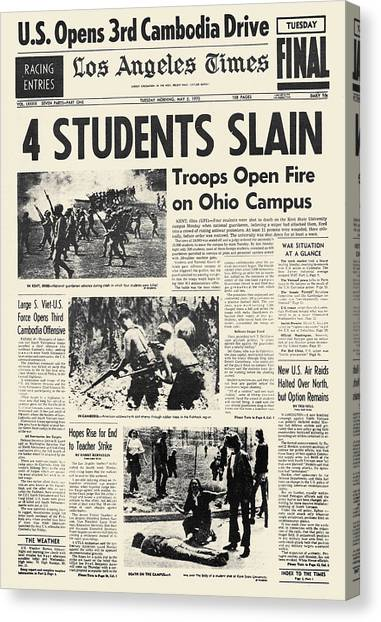 Kent State University Canvas Print - Kent State Shootings, 1970 by Granger