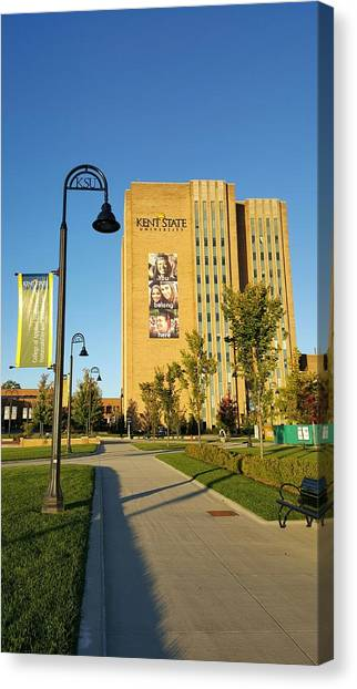 Kent State University Canvas Print - Kent State University Library  by Yazid Ismail