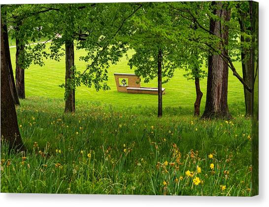 Kent State University Canvas Print - Kent State Victory Bell by Kenneth Sponsler