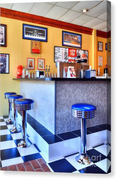 University Of Kentucky Canvas Print - Kentucky Blue Diner by Mel Steinhauer