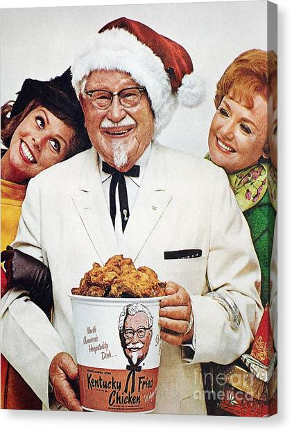 Kentucky Fried Chicken Ad Canvas Print by Granger