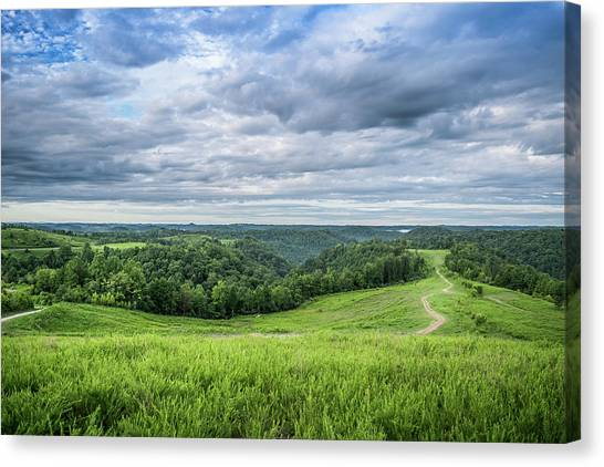 Kentucky Hills And Clouds Canvas Print