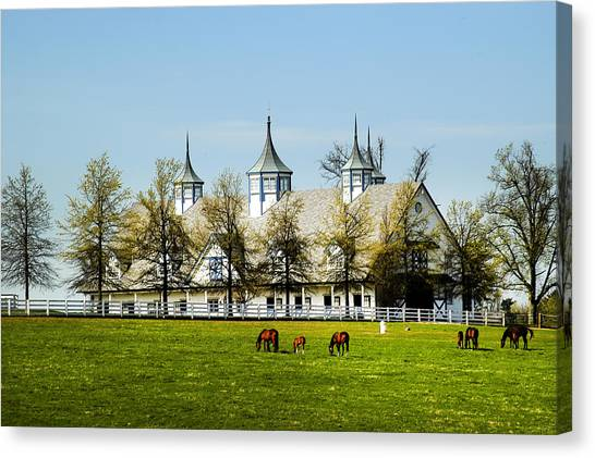 Revised Kentucky Horse Barn Hotel 2 Canvas Print