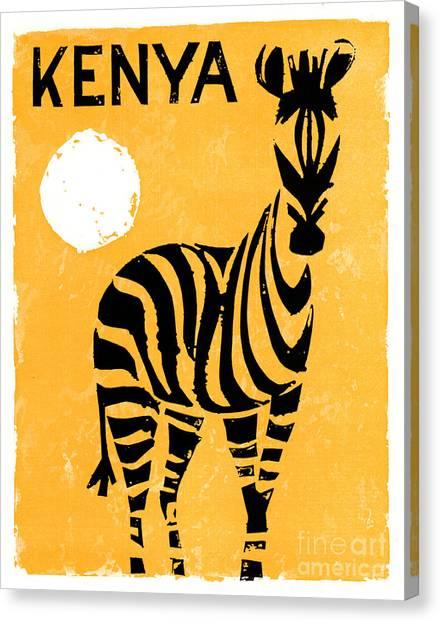 Kenya Africa Vintage Travel Poster Restored Canvas Print