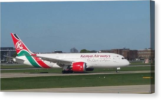 Kenya Airways Boeing 787 Canvas Print