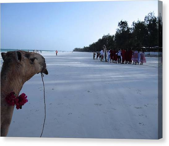 Exploramum Canvas Print - Kenya Wedding On Beach Distance by Exploramum Exploramum