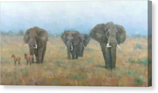 Kenyan Elephants Canvas Print