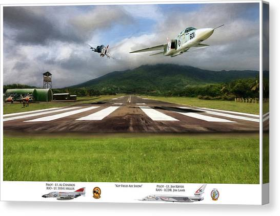 Vietnam War Canvas Print - Kep Field Air Show by Peter Chilelli