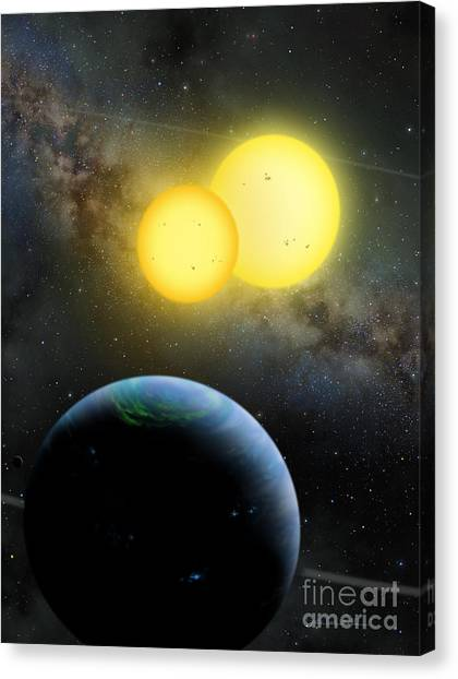 Kepler-35 Canvas Print