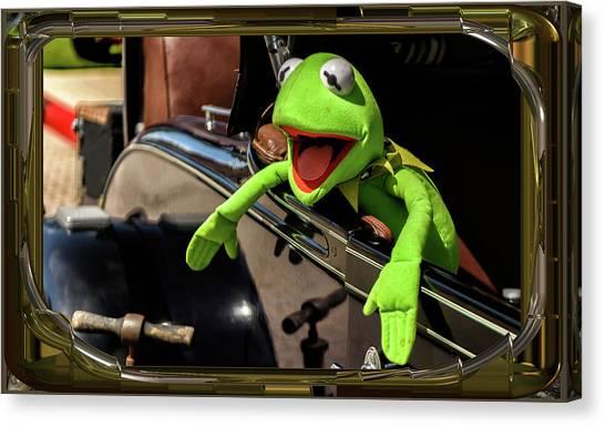 Kermit In Model T Canvas Print