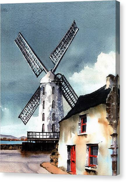 Kerry Windmill At Blennerville Canvas Print