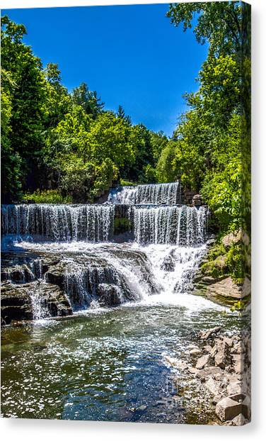Keuka Outlet Waterfall Canvas Print