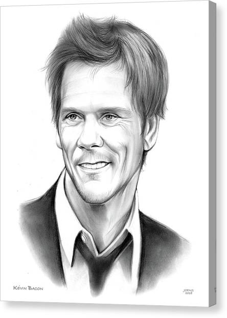 Bacon Canvas Print - Kevin Bacon by Greg Joens