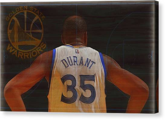 Stephen Curry Canvas Print - Kevin Durant Golden State by Dan Sproul