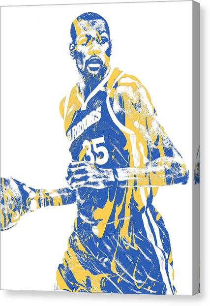 Golden State Warriors Canvas Print - Kevin Durant Golden State Warriors Pixel Art 30 by Joe Hamilton