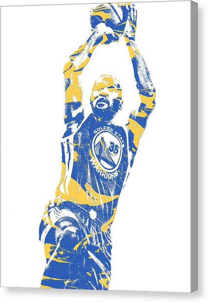 Golden State Warriors Canvas Print - Kevin Durant Golden State Warriors Pixel Art 31 by Joe Hamilton