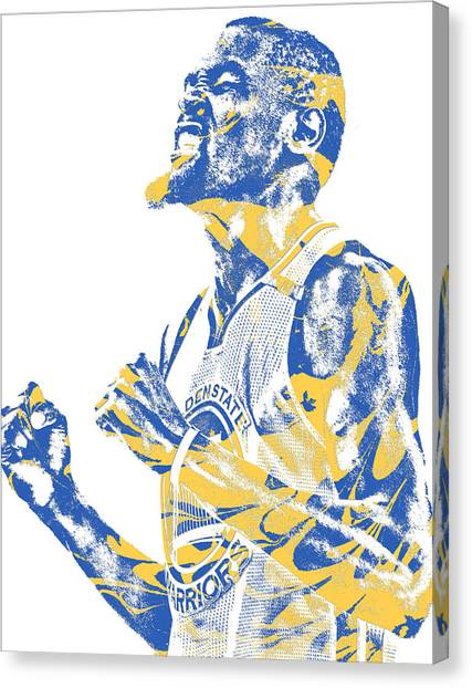 Golden State Warriors Canvas Print - Kevin Durant Golden State Warriors Pixel Art 32 by Joe Hamilton