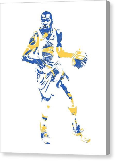 Golden State Warriors Canvas Print - Kevin Durant Golden State Warriors Pixel Art 50 by Joe Hamilton