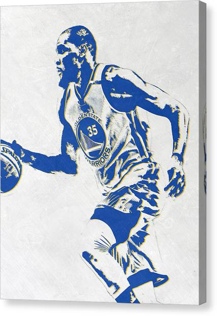 Golden State Warriors Canvas Print - Kevin Durant Golden State Warriors Pixel Art by Joe Hamilton