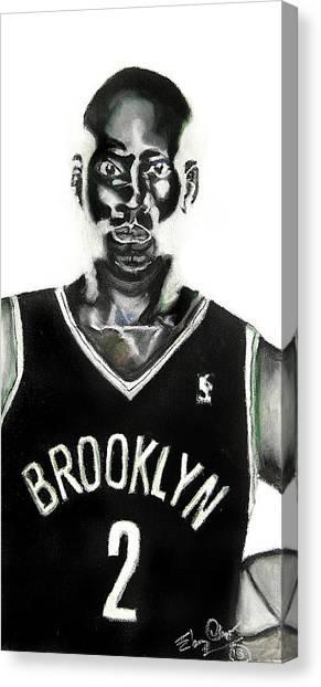 Brooklyn Nets Canvas Print - Kevin Garnett by Ebony Thompson