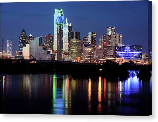 Kevin's Dallas Skyline Canvas Print