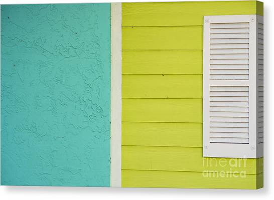 Architectural Detail Canvas Print - Key Lime Blue Abstract by Juli Scalzi