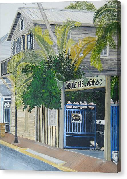 Heaven Canvas Print - Key West Blue Heaven by John Schuller