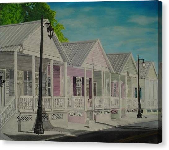 Key West Cottages Canvas Print by John Schuller
