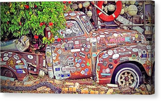 Island .oasis Canvas Print - Key West Junk Truck II by Chris Andruskiewicz