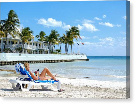 Key West Sunbather Canvas Print