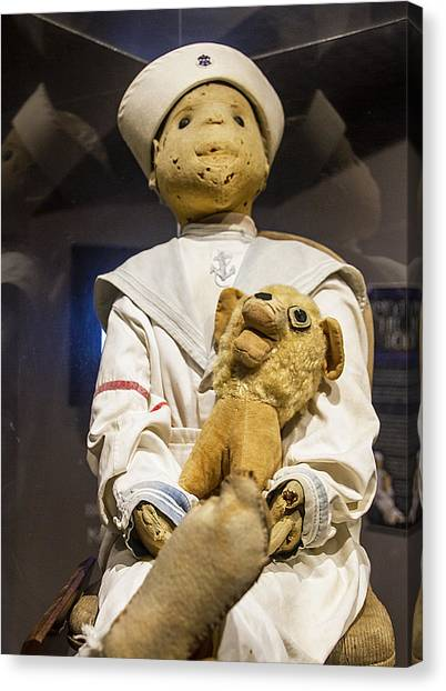 Canvas Print featuring the photograph Key Wests Robert The Doll by Bob Slitzan