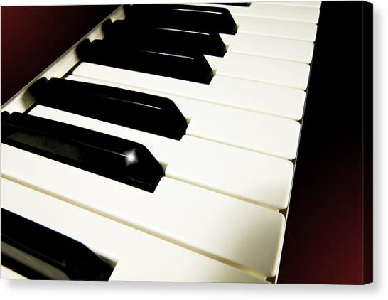 Synthesizers Canvas Print - Keyboard by John Hoesly