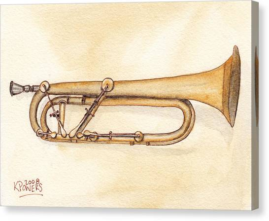 Keyed Trumpet Canvas Print