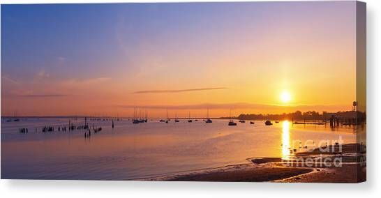 Keyport Harbor Sunrise  Canvas Print
