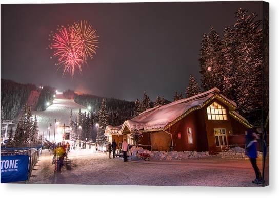 Keystone Resort Fireworks Canvas Print