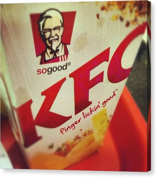 Potato Canvas Print - #kfc #fingerlickingood #chicken #chips by Shamoon Sabig