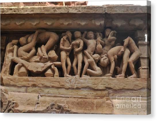 Khajuraho Temples-1 Canvas Print